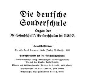 """Spendenaufruf - """"Die deutsche Sonderschule"""""""