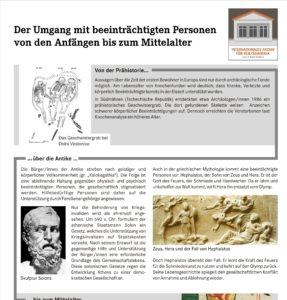Ausstellung zur Geschichte de Heilpädagogik