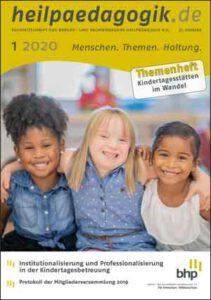 Coverbild der heilpaedagogik.de | Ausgabe 2020-01